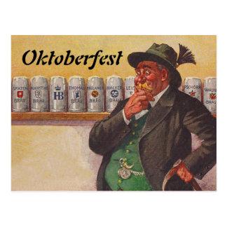 ヴィンテージのオクトーバーフェストのOctoberfestの選択の郵便はがき ポストカード