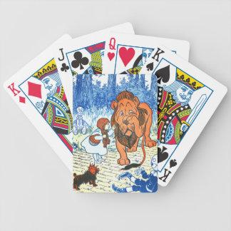 ヴィンテージのオズの魔法使いのイラストレーション-ドロシー及びライオン バイスクルトランプ