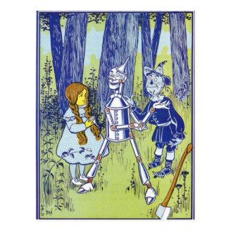 ヴィンテージのオズの魔法使いのキャラクター ポストカード