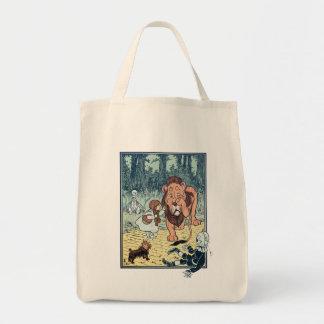 ヴィンテージのオズの魔法使いのキャラクター、黄色い煉瓦道 トートバッグ