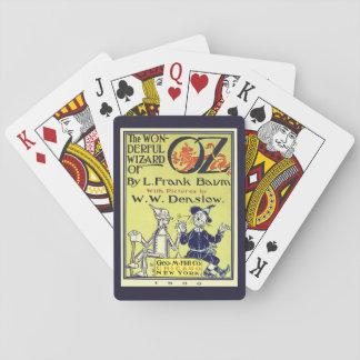 ヴィンテージのオズの魔法使いの表紙の芸術、とびら トランプ