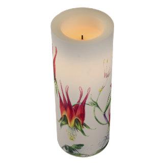 ヴィンテージのオダマキ(植物)によっては花のFlameless蝋燭が開花します LEDキャンドル