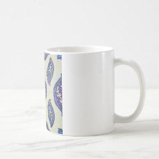 ヴィンテージのオットマンのタイルの花柄の抽象デザイン コーヒーマグカップ