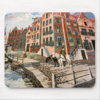 ヴィンテージのオランダのイメージ、タペストリーのデザイン マウスパッド