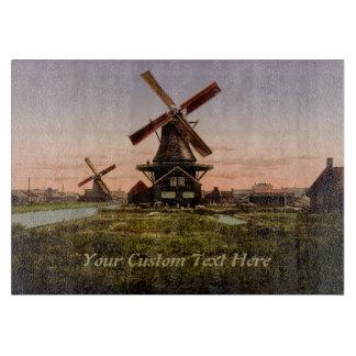 ヴィンテージのオランダの風車のカスタムなまな板 カッティングボード