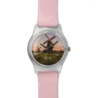 ヴィンテージのオランダの風車のカスタムの腕時計 腕時計