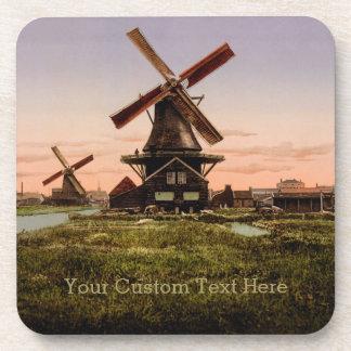 ヴィンテージのオランダの風車のコースター コースター