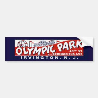 ヴィンテージのオリンピック公園のバンパーステッカー、ニュージャージー バンパーステッカー