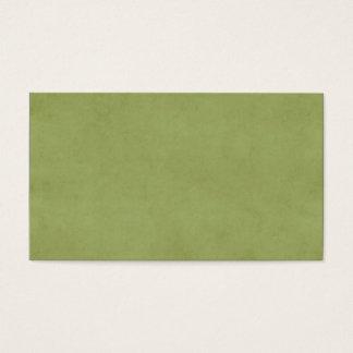 ヴィンテージのオリーブ色の紙の羊皮紙の背景 名刺