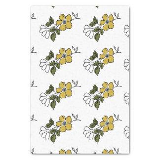 ヴィンテージのオレンジおよび黄色の花の結婚式 薄葉紙