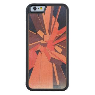 ヴィンテージのオレンジの長方形 CarvedメープルiPhone 6バンパーケース