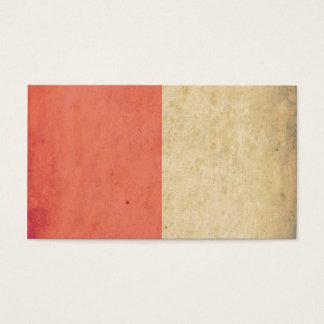 ヴィンテージのオレンジクリーム色の二色のグランジなパターン 名刺