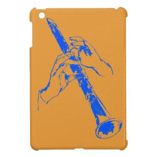 ヴィンテージのオレンジ青はクラリネットの中枢神経刺激剤グッドマンを渡します iPad MINIケース