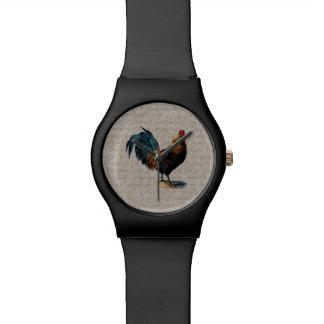 ヴィンテージのオンドリのレトロの鶏の旧式な文字の鳥 腕時計