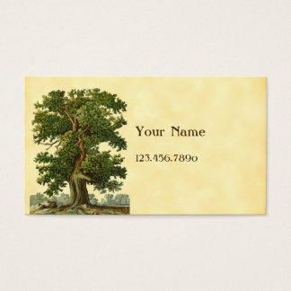 ヴィンテージのオークの木のカスタムな名刺 名刺