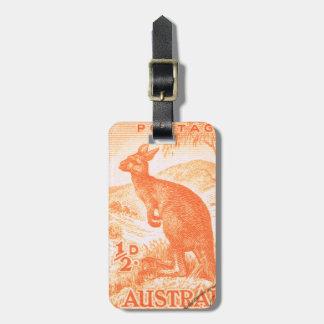 ヴィンテージのオーストラリアのカンガルー ラゲッジタグ