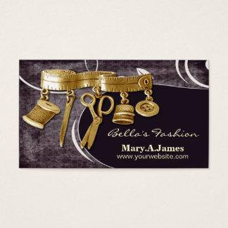 ヴィンテージのオートクチュールのドレスメーカーの名刺 名刺