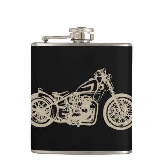 ヴィンテージのオートバイのイラストレーション フラスク