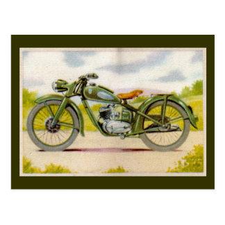ヴィンテージのオートバイのプリント ポストカード