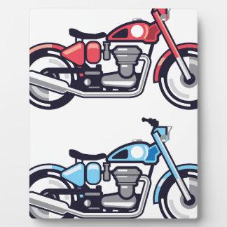 ヴィンテージのオートバイの様式化されたベクトル フォトプラーク