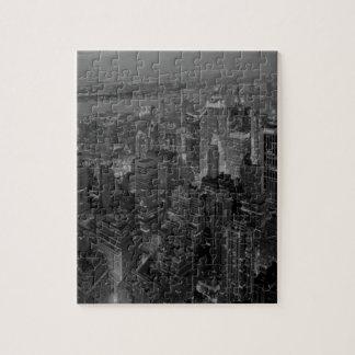 ヴィンテージのオールドスタイルのニューヨークシティの原稿 ジグソーパズル