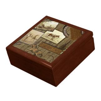 ヴィンテージのカウボーイのJewlery箱 ギフトボックス