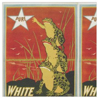 ヴィンテージのカエルのコーヒー広告織物 ファブリック