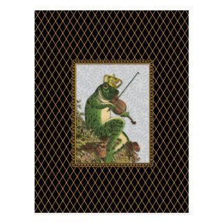 ヴィンテージのカエルの白馬の王子様 ポストカード