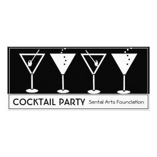 ヴィンテージのカクテルのパーティの招待状 ラックカード