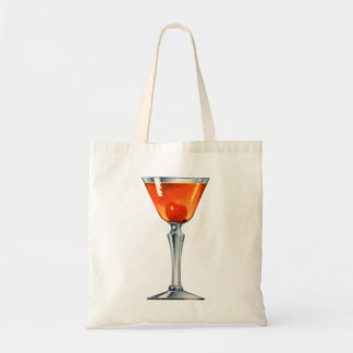 ヴィンテージのカクテルの酒宴の飲み物マンハッタン トートバッグ