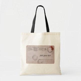 ヴィンテージのカスタマイズ可能な郵便はがきのデザイン トートバッグ