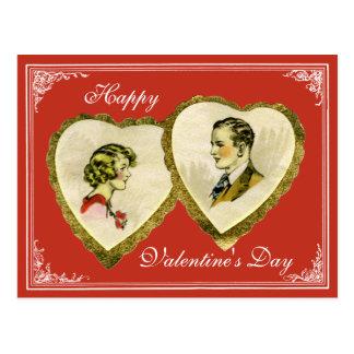 ヴィンテージのカップルのバレンタイン、結婚式、記念日のPC ポストカード