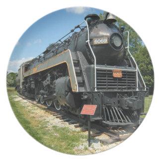 ヴィンテージのカナダの鉄道列車のプレート プレート