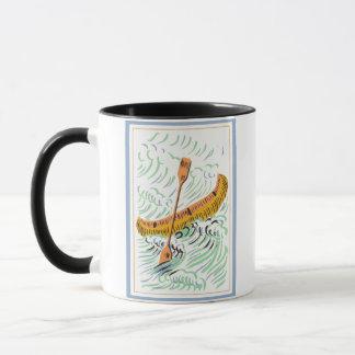 ヴィンテージのカヌーの芸術 マグカップ