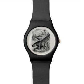 ヴィンテージのカバのベビーの名前入りなレトロのカバ 腕時計