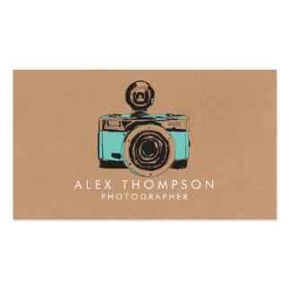 ヴィンテージのカメラのカメラマンの名刺 スタンダード名刺
