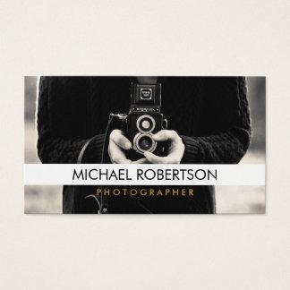 ヴィンテージのカメラのカメラマンの名刺 名刺