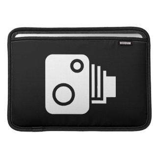 ヴィンテージのカメラのピクトグラムのMacBookの空気袖 MacBook スリーブ