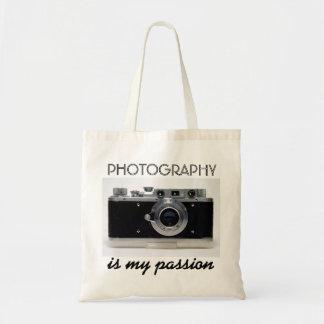 ヴィンテージのカメラ01の写真撮影は私の情熱のバッグです トートバッグ