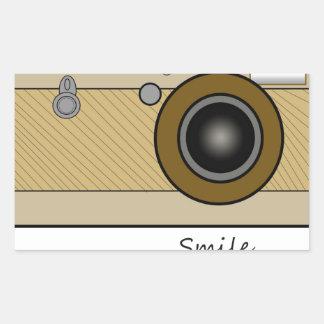 ヴィンテージのカメラ 長方形シール