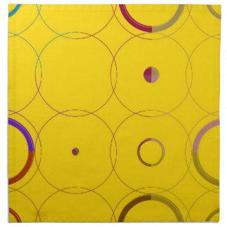 ヴィンテージのカラフルなレトロのポップアートのナプキン ナプキンクロス