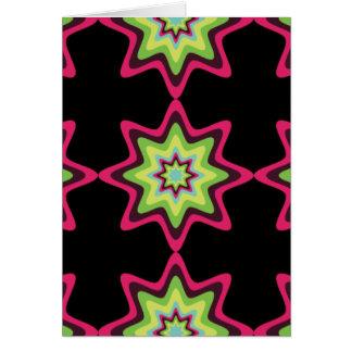 ヴィンテージのカラフルな星 カード