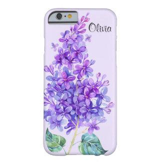 ヴィンテージのカラフルな紫色の薄紫の花柄のiPhone6ケース Barely There iPhone 6 ケース