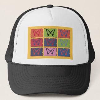 ヴィンテージのカラフルな蝶ファインアート キャップ
