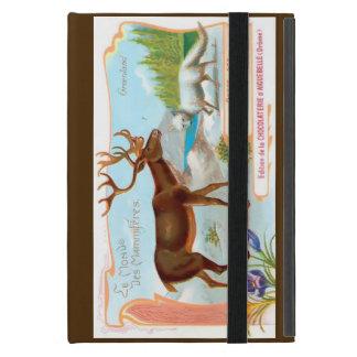 ヴィンテージのカリブー(トナカイ)およびホッキョクギツネ iPad MINI ケース