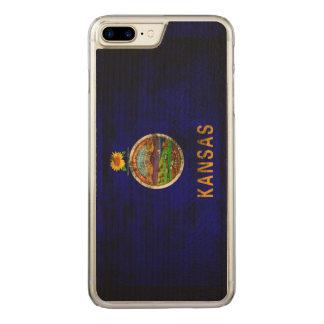 ヴィンテージのカンザスのグランジな州の旗 CARVED iPhone 8 PLUS/7 PLUS ケース