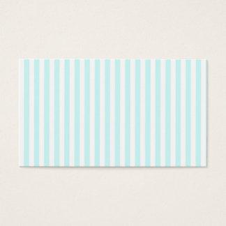 ヴィンテージのガーリーなティール(緑がかった色)の青い白のストライプパターン 名刺