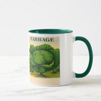ヴィンテージのキャベツ種の包みのマグ マグカップ