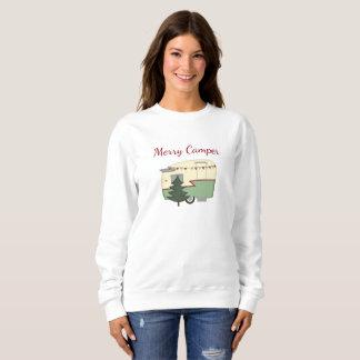 ヴィンテージのキャンピングカーのクリスマスの休日のワイシャツ スウェットシャツ