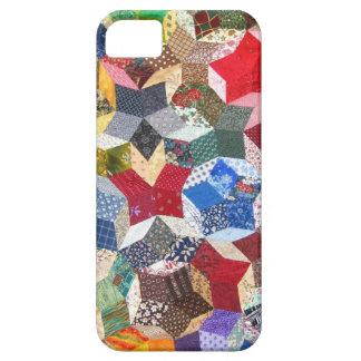 ヴィンテージのキルトの裁縫婦の幾何学的なパターン iPhone SE/5/5s ケース